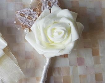 Buttonholes/ Wedding Bouquet / Artificial Bouquet / Artificial Wedding Bouquet / Flowers for Weddings / Brides Bouquet/