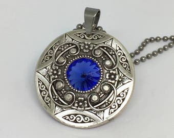 Pendant necklace/Christmas gift/Blue gift for wife/gift-for-woman/Game of Thrones/Victorian necklace/Downton Abbey/Amulet Necklace/gift for