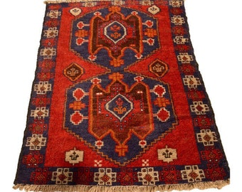 "Vintage Persian Rug 2'9"" x 4'9"""