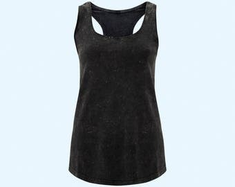Black Vest - Acid Black Organic Ladies Uncaptive