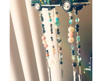 1960's Volkswagen Windchime With Various Crystal Beads