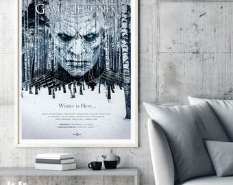 Game of Thrones Poster, TV Poster Art Print, TV Poster, Wall Art, GOT Poster, Game of Thrones Season 7