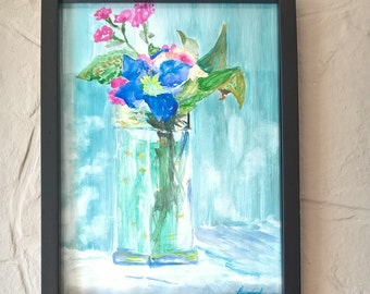 Flowers in crystal glass