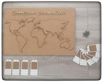 Personalized world map Kit