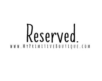 Reserved for Gina