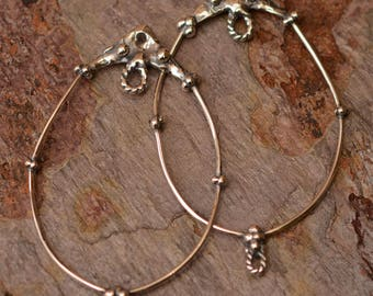 Artisan Handcrafted Earring Hoops, E-665, Two Hoops, Add Charms