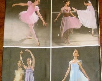 Sewing Pattern Simplicity 5136 Tween Girl Ballet Tutu Dance Skirt Top Ballerina Dress Sz 7 8 10 12 14 Chest Bust 26 27 28 30 32 34 Uncut FF