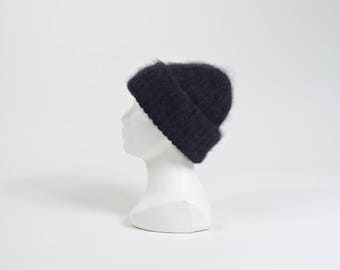 80s Pier Angelini chunky angora wool beanie
