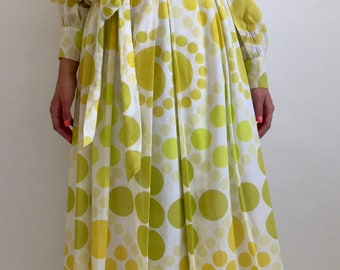 1970s Tori Richard for I. Magnin Psychedelic Dress