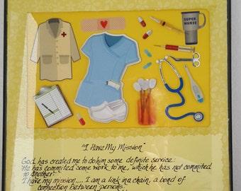 Nursing collage, in 8x11 frame, by 3LittleCraftersAreWe, 'I Have My Mission'