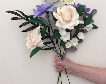 Paper Flowers / Paper Flower Bouquet / Paper Decorations / Paper Flower Decor / Paper Wedding Flowers / Boho Flowers / Paper Craft Flowers