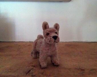 Needle felted French Bulldog miniature