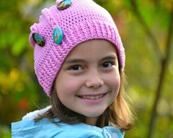 Crochet pattern - Pigtails hat by VendulkaM - crocheted slouchy beanie / digital pattern, DIY, pdf