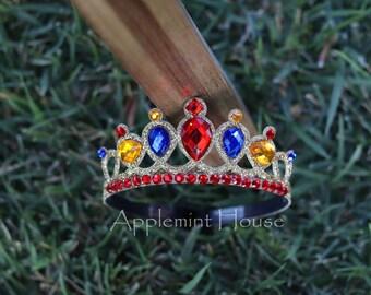 Snow White Headband,Snow White Birthday Crown,Snow White Crown, Snow White Elastic Headband,Snow White Tiara,Disney Princess Crown