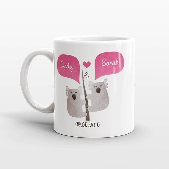 KOALA Mug Valentines Day Gift for Her for Him Animal Couple Mug Engagement Gift Personalized Mug Unique Coffee Mug Animal Mug Coffee Cup