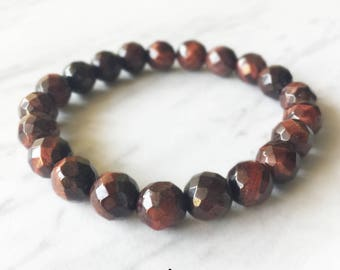 Tigers Eye Bracelet, Tigers Eye, Crystal Bracelet, Gemstone Beaded Bracelet, Tigers Eye Jewelry, Chakra Jewelry, Beaded Bracelets, 8mm