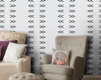Geometric arrow wallpaper, self adhesive, temporary, removable nursery mb099