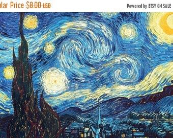 ON SALE The starry night  by Van Gogh - (331 x 207 stitches - Cross Stitch Pattern Pdf - INSTANT Download - B387