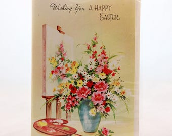 """Vintage Card Masters """"Wishing You A Happy Easter Card and Envelope"""