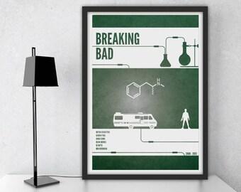 breaking bad poster etsy. Black Bedroom Furniture Sets. Home Design Ideas