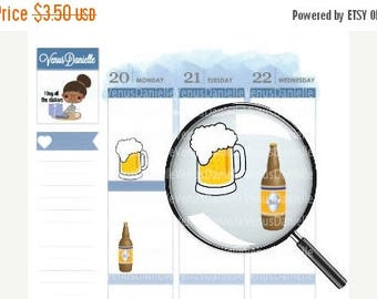 On Sale Beer Planner Stickers, Beer Bottle Stickers, Drinking Stickers, Beer Mug Stickers, Beer Stickers for Use in Erin Condren