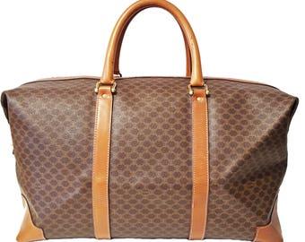 Celine Boston Bag MacDam Duffel Handbag Authentic Branded Travel Bag