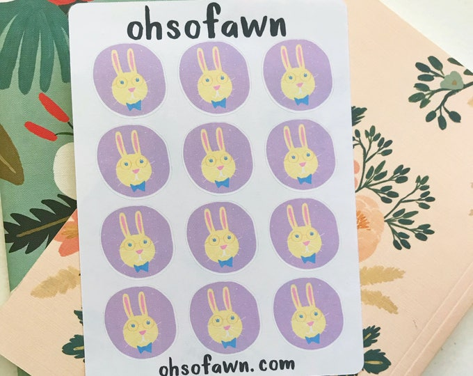 Smart Bunny Stickers