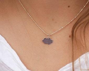Sterling Silver Pendant cloud necklace