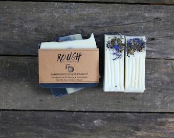 Sandalwood & Bergamot Soap - All Natural Soap, Cold Process Soap, Handmade Soap, Vegan Soap, Men's Soap, Charcoal Soap, Handcrafted Soap