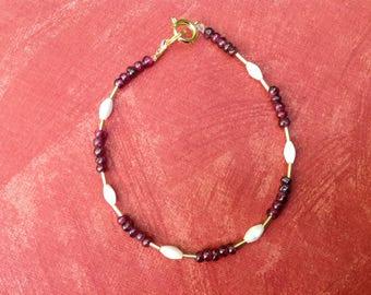 pretty bracelet with gemstones