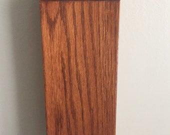 Vintage wooden wall pocket, wooden wall vase, farmhouse decor