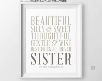 Christmas Gift for Sister Gift for Sister In Law Gift for Maid of Honor Gift for Bridesmaid Gift Sisters Birthday Gift for Sisters Wedding
