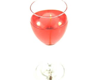 White Zinfandel Scented Gel Candle in 8.5 oz Wine Glass