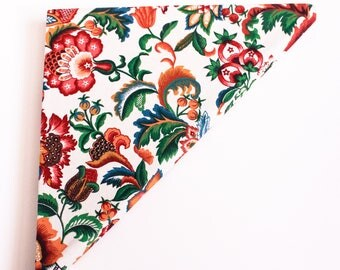 Handmade Fabric-Covered Triangle Notebook
