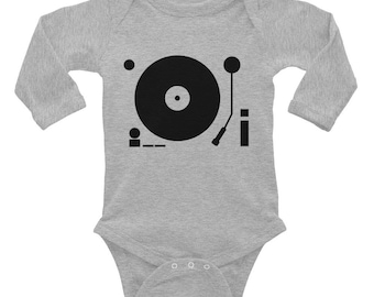 vinyl turntable Infant Long Sleeve Bodysuit baby grow