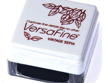 versafine vintage sepia ink