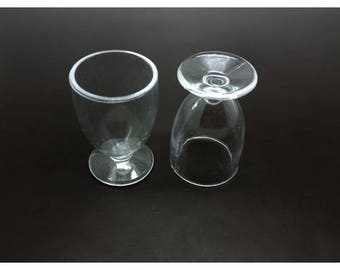 Glasses 2 foot or Miniature ice cream cups