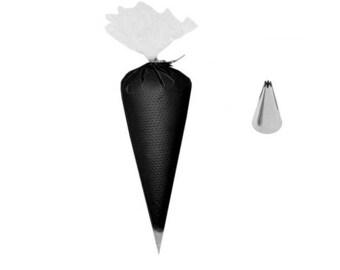 Fausse chantilly 50g couleur noir avec douille