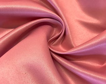 "Dusty Rose Matte Satin (Peau de Soie) Duchess Fabric Bridesmaid Dress 60"" Wide Sold BTY"