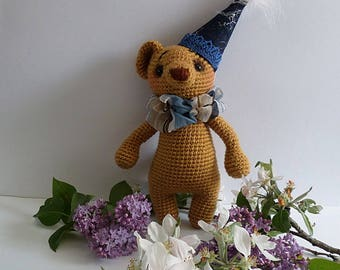 amigurumi toy.crocheted bear,gift idea,gift for a child,soft toy,