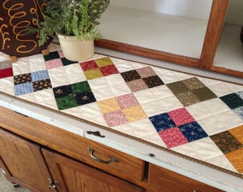 Quilted Table Runner Civil War Patchwork