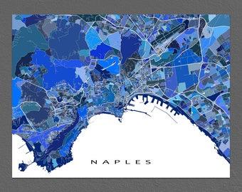 Naples Italy, Naples Map Print, Europe City Maps, Napoli