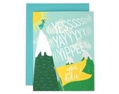 Yes, Yay, Yippee You Did It! Congratulations Card | Illustrated Greeting Card | Folk and Fauna Co.