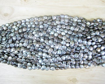 Dark Grey Freshwater Coin Pearl (12mm)