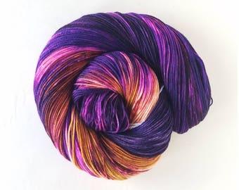 Crown,   hand painted indie yarn