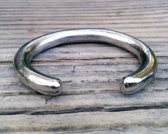 10mm Thick Stainless Cuff Bracelet.  Polished.
