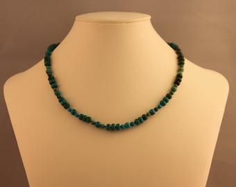 Turquoise Bead Single Strand Beaded Necklace