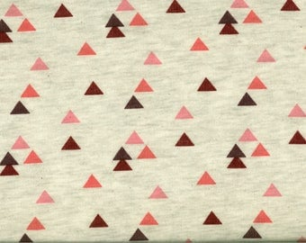 FABRIC beige SWEATER and red, pink triangles