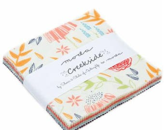 SALE!! Charm Pack  Creekside by Sherri and Chelsea for Moda - 42 Fabrics