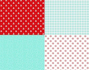 1 Panel A Little Sweetness by Tasha Noel for Riley Blake Designs- 6511 Aqua